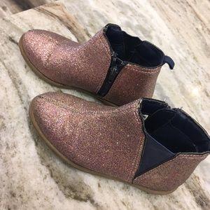Carters Glitter Bootie with zip & elastic.